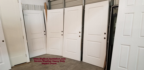 36 in. x 80 in. Impact Doors, 2-Panel Square Top Belleville Cambridge Smooth Fiberglass Exterior Impact Doors Slabs  We Install Flooring, Doors, Baseboard, Crown Molding, Window and Door Trim, .... Alan Feild 615-800-1646