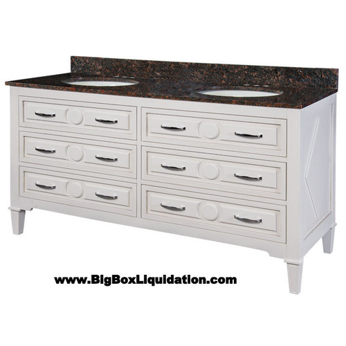 Solid Wood Mary Soft White Finish 60 in. x 22 in., All Drawers Slow Close, Fully Assembled, Bath Vanity Cabinet Only  Pallet Shipping to Your Location Available, 615-800-1646