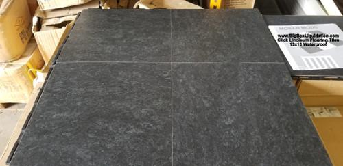 13x13 Slate Black Indoor / Outdoor Eco-Friendly Linoleum Floor Til