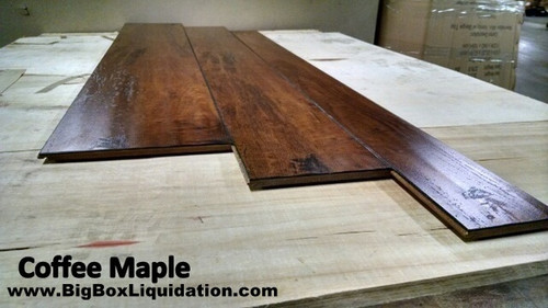 COFFEE MAPLE 17 inch Multiple Widths x 1/2 inch Thick Engineered UNICLIC Hardwood Flooring Waterproof Surface & Waterproof Locking Flooring  Installation Available, Pallet Shipping Available 615-800-1646