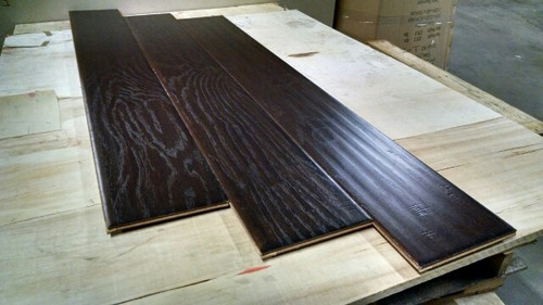 MIDNIGHT HICKORY 7 in. Wide x 1/2 inch Thick Engineered UNICLIC Hardwood Flooring