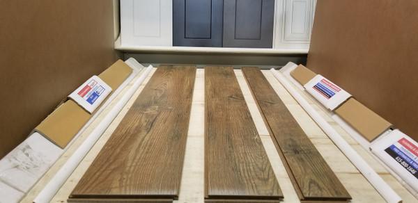 "RIVER CYPRESS 17 inch Multiple Random Widths x 1/2"" Thick Engineered UNICLIC Hardwood Flooring"