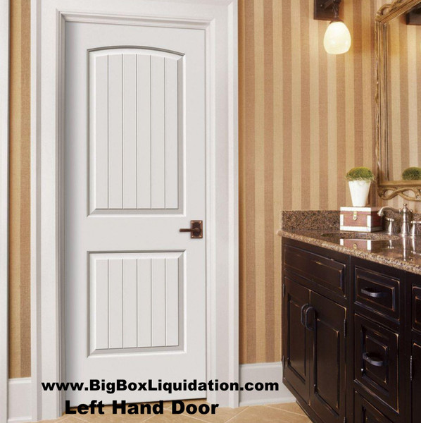 We Install Multiple Doors Packages. Alan 615-800-1646  36 in. x 80 in. 2-Panel Arch Camber Top V-Grooved Planks Cheyenne Sante Fe Hollow-Core Primed Left Handed Smooth Molded Composite MDF Single, Split Primed FingerJointed Jamb Prehung Interior Door