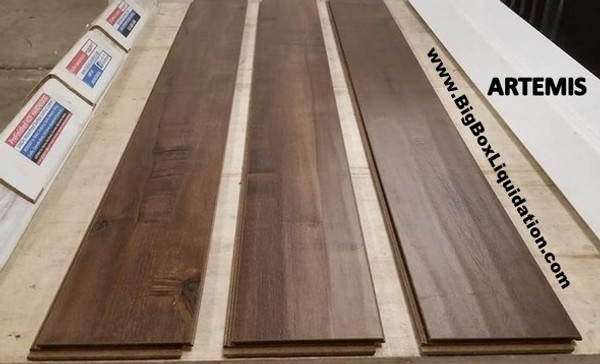 ARTEMIS 6 in. Wide x 1/2 inch Thick Engineered UNICLIC Hardwood Flooring Waterproof Surface & Waterproof Locking  Installation Available, Pallet Shipping Available 615-800-1646
