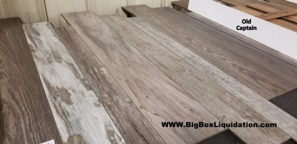 OLD CAPTAIN Non-Repeating Colors, 17 inch Multiple Widths x 1/2 inch Thick Engineered UNICLIC Hardwood Flooring Waterproof Surface & Waterproof Locking Pallet Shipping, Delivery, Free Local Pick Up, Installation Available  Alan 615-800-1646