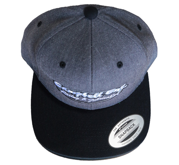 Campbell Ent Racing and Fabrication Gray/ Black Snapback Hat