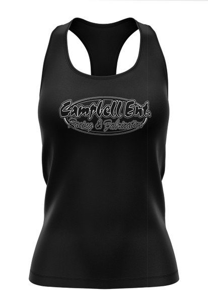 Womens Campbell Ent Racing and Fabrication Tank Tops
