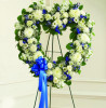 White and Blue Hollow Heart-FNHOL-012