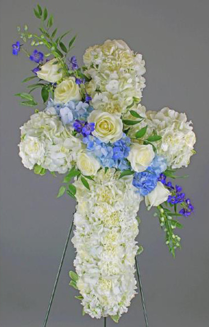 White and Blue Standing Cross-FNSTC-03