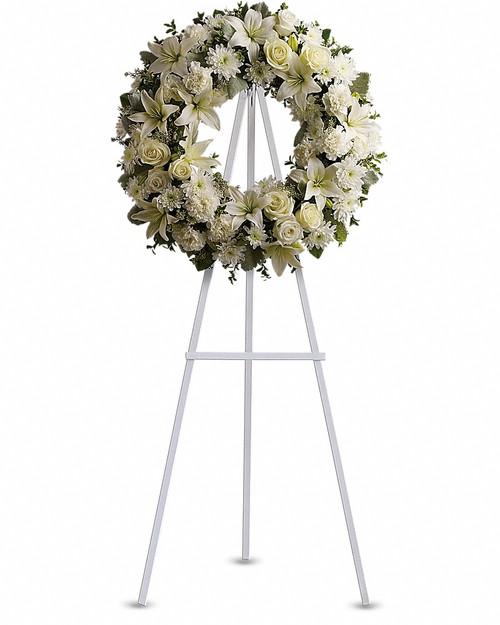 Classic White Wreath-FNFSW-06