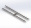Rectangle Shaped Stainless Steel H Burner for Fire Pit-multiple sizes