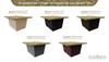 Santa Cecilia Granite Top (So-Cal Special Limited Time Offer) - Base Color Configurations