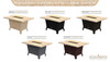 "COOKE Palisades Rectangular Fire Pit Table - 52"" x 36"" - Dining Height"