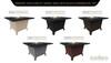 Black Powdercoat Top & Base Color Configurations