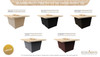 "COOKE Palisades Rectangular Fire Pit Table - 44"" x 36"" - Chat Height"