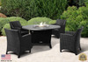 """COOKE Olympic Round Fire Pit Table  55"""" Diameter - Dining Height"""