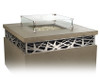 American Fyre Designs - French Barrel Oak Cosmopolitan Square Firetable - Chat Height