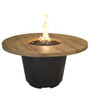 French Barrel Oak Cosmopolitan Round Firetable