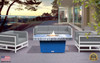 """COOKE Palisades Rectangular Fire Pit Table - 48"""" x 36"""" - Chat Height"""