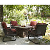 Evans Lane - Port Royal Cast Stone Fire Pit Table Seating Set