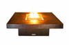 """COOKE Hammered Copper Santa Barbara Square Fire Pit Table - 44"""" x 44"""" - Lounge Height"""