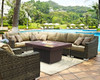 """COOKE Hammered Copper Palisades Rectangular Fire Pit Table 52"""" x 36"""" - Chat Height"""