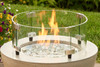 "Outdoor Greatroom - Round Tempered Glass Wind Guard for 12"" Burner"