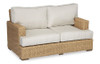 Leucadia Loveseat with cushions in Canvas Flax with self welt