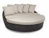 Cardiff Round 2 Piece Daybed with cushions in Canvas Flax with self welt