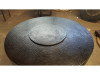 COOKE Hammered Copper Parkway Round Fire Pit Table from SoCal Fire Pits