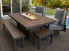 Outdoor Greatroom - Kenwood Linear Dining Height Gas Fire Pit Table