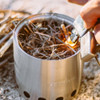 Easy to light with small biomass fuel