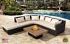 "COOKE Santa Barbara Rectangular Fire Pit Table - 48"" x 36"" - Grey Texture Top"