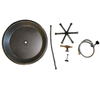 """COOKE 20"""" Round Fire Pit Kit w/ Optional Lid"""