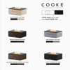 """COOKE Costa Mesa Fire Pit Table  47"""" x 33"""" x 17"""" - Stone Top"""
