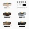 """COOKE Costa Mesa Fire Pit Table  47"""" x 47"""" x 17"""" - Stone Top"""
