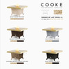 """COOKE Parkway 48"""" x 48"""" Dining - Stone Top"""