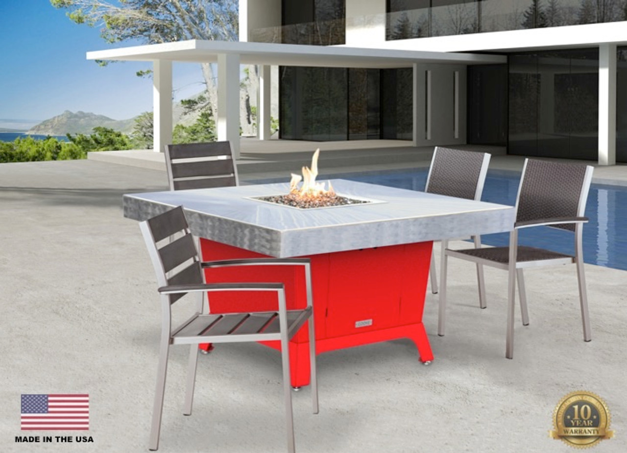 Picture of: Cooke Fire Pit Patio Dining Table Parkway Outdoor Patio Fire Table