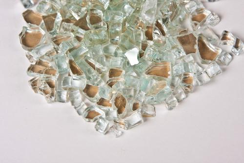"Platinum Reflective 1/4"" Fire Pit Glass"