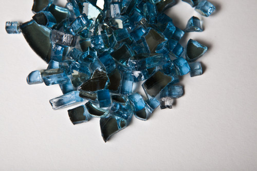 """Pacific Blue Reflective 1/4"""" Fire Pit Glass"""