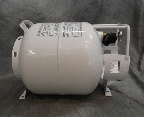 5 Gallon / 20 pound Horizontal Steel Propane Tank