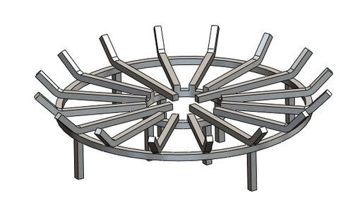 COOKE Round Fire Pit Grate - Stainless Steel