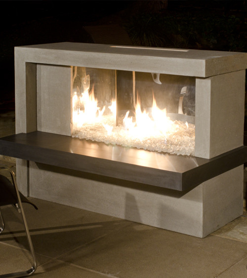 AFD Collection - Manhattan Fireplace w/ Stainless Steel Firebox