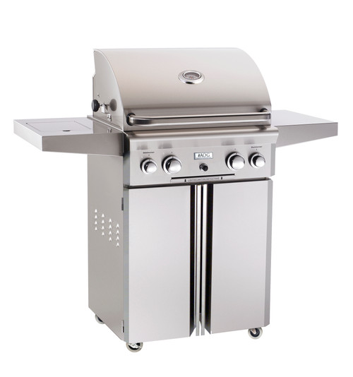 """American Outdoor Grill 24"""" Portable Gas Grill (Optional Rotisserie and Side Burner)"""