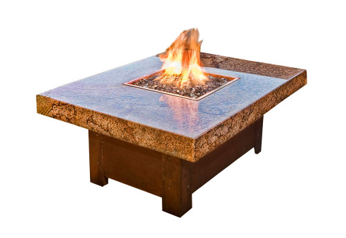 The Balboa Fire Pit Table is a perfect height for casual dining or a restaurant setting.