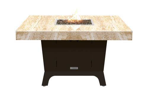"COOKE Parkway Square Fire Pit Table  - 48"" x 48"" - Dining Height"
