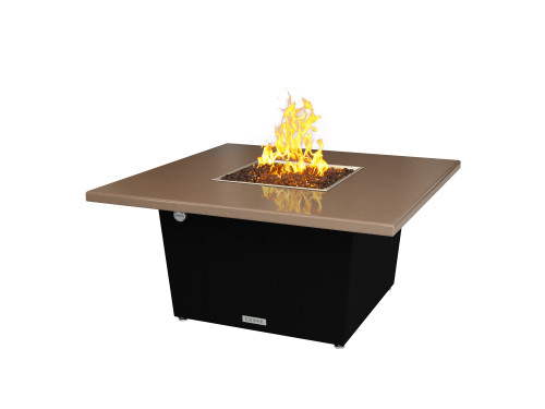 "COOKE Parkway Square Fire Pit Table - 44"" x 44"" - Chat Height"