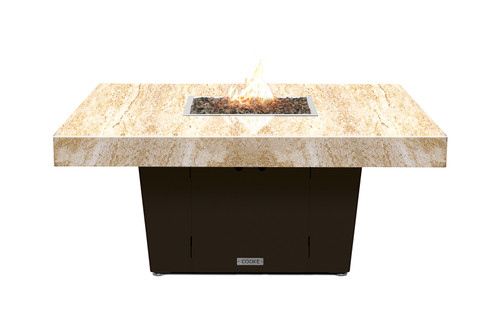 Parkway 48x48 Shown With Cafe Creme (So-Cal Special) Granite Top and Bronze Base