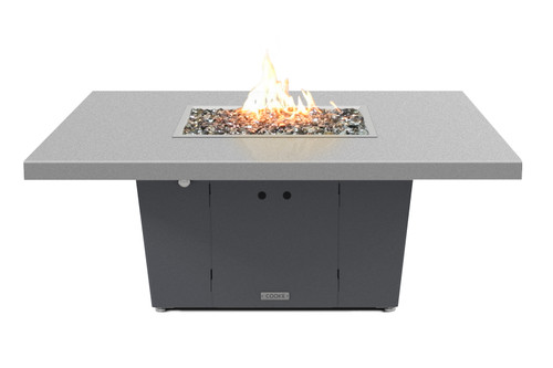 "COOKE Parkway Square Fire Pit Table - Large 56"" x 56"" - Chat Height"