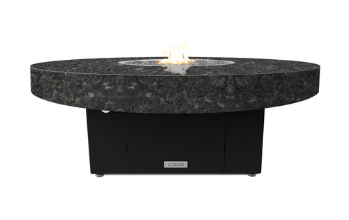 "COOKE Santa Barbara Circular Fire Pit Table - 48"" Diameter - Lounge Height"